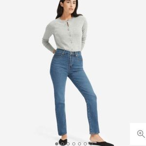 Everlane High Rise cigarette jeans in mid blue 26P